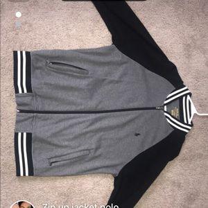 Zip up polo jacket